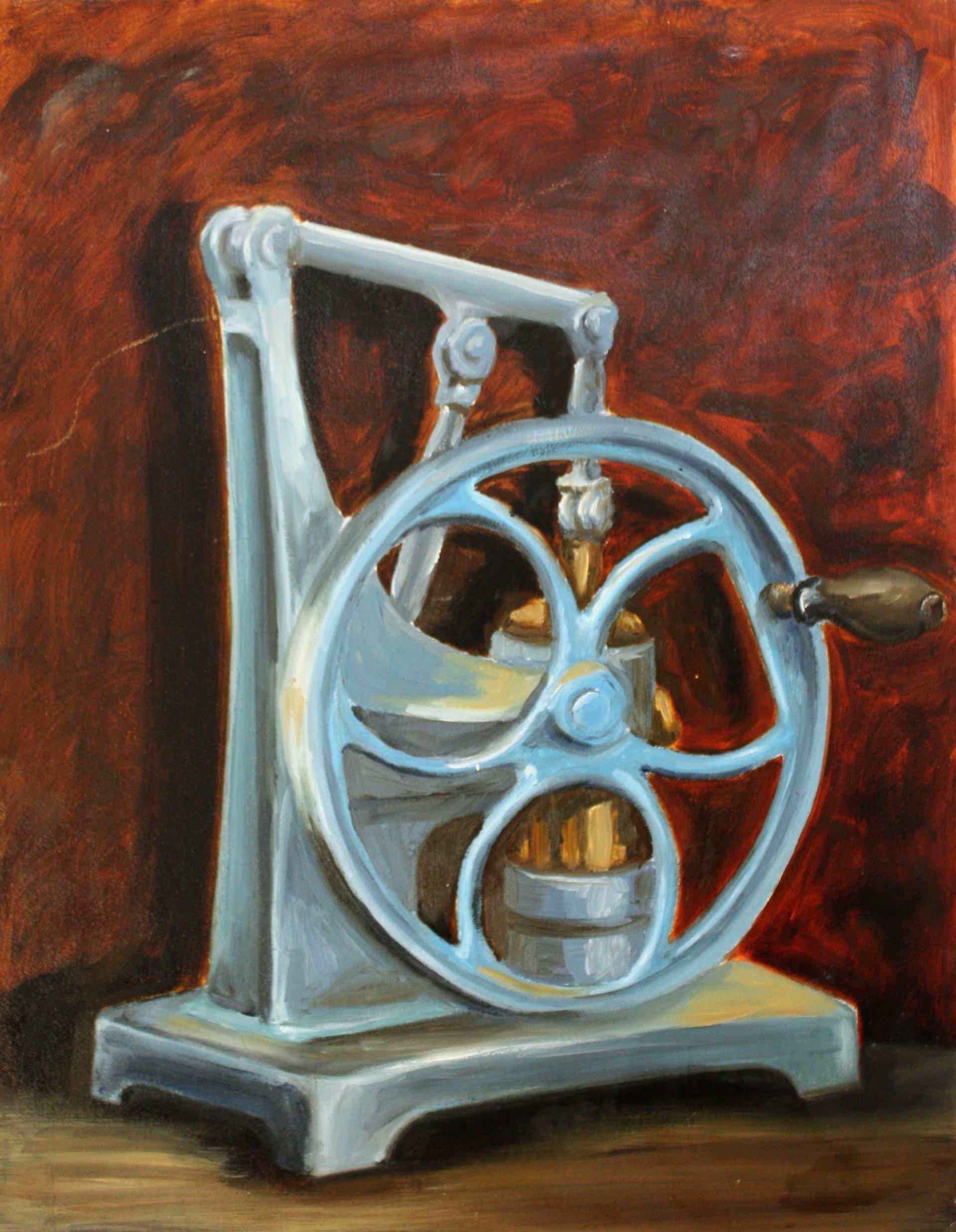 1996 - Old Pump - oil on canvas board